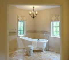 cleveland floor mount tub bathroom transitional with damask