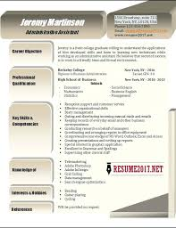 Administrative Assistant Resume Template Professional Summary Examples