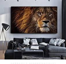 gudojk wandmalereien kunst poster löwen bilder leinwand