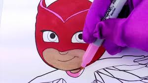 PJ Masks Owlette Coloring Page Fun Activity For Kids Toddlers Children Dailymotion