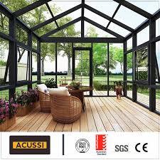 100 Glass House Project Hot Item Custom Design Sunroom Roof Aluminium Sunroom For Balcony Building