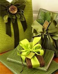Presents Wrapped In Green Is Considered Good Luck