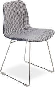 moderne stuhl mit metallgestell sitz in stoff idfdesign
