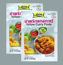 curry jaune pâte de curry thai