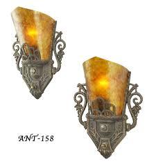 vintage hardware lighting pair of antique restored deco