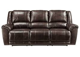 iDeal Furniture Farmingdale Yancy Walnut Reclining Power Sofa