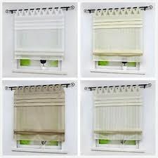 details zu raffrollo mit schlaufen raffgardine leinen küche gardinen halbtransparent modern