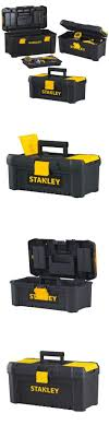 STANLEY PORTABLE TOOL BOX ORGANIZER Plastic Storage Lock Mechanic ...