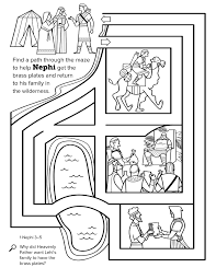 Page 1 Of Scripture Stories Coloring Book Mormon