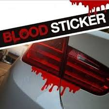 Amazon.com: Iuhan Fashion Red Blood Car Stickers Reflective Car ...