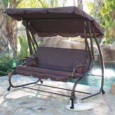Belleze Canopy Porch Swing with Stand & Reviews