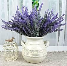 8 bündel schöne lila lavender blumenstrauß deko künstliche