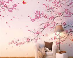 Japanese Cherry Blossom Bathroom Set by Cherry Blossom Wall Decal Custom Vinyl Decals Office Wall Decor