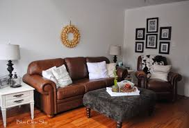 Brown Leather Sofa Living Room Ideas by Tips U0026 Ideas Revere Pewter Colors With Brown Leather Sofa And