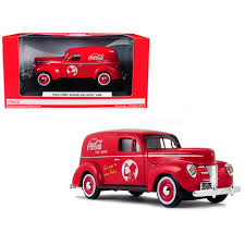 100 Cars And Trucks Ebay New 1940 Ford Sedan Delivery Van CocaCola Red 124 Diecast Model
