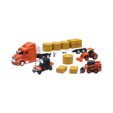 New-Ray Toys Die Cast Kubota Farm Vehicles W/ Peterbilt Flatbed ... Buy Lionel Tmt418 Flatbed Toy Truck Operation Helicopter Car Olympic Folders Esso Flatbed Truck Hanomag 42920 Us Zone Germany Greenlight Hd Trucks Series 1 Intertional Durastar Amazoncom Matchbox Rev Rigs Toys Games Sandi Pointe Virtual Library Of Collections Lego City For Kids Youtube Gazaa 1932 3d Model Hum3d Mack Log Trailer Diecast Replica 132 Scale Assorted Jada 124 1952 Chevy Trade Me Bruder Granite W Low Loader Jcb Long Haul Trucker Newray Ca Inc Candylab Bad Emergency Black Otlw004 Sportique