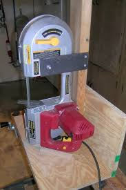 a simple stand for the harbor freight portable bandsaw the