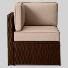 Threshold Patio Furniture Manufacturer by Armless Sectionals All Weather Wicker Patio Furniture Target
