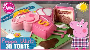 peppa pig fondant cake peppa wutz motiv torte sallys