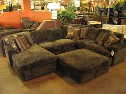 Bobs Living Room Furniture by Decorating Brown Leather Sectional Sleeper Sofa For Living Room