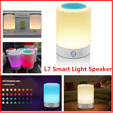 Induction Lamps Vs Led by Newest Night Light L7 Led Lamp Bluetooth Speaker Touch Induction