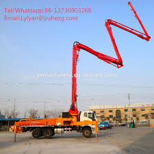 100 Boom Truck 32m Portable Mounted Concrete Pump Hot Sale In