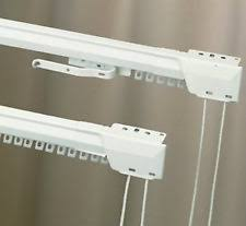 2 kirsch 3125 two way draw traverse curtain rods 48 86 white