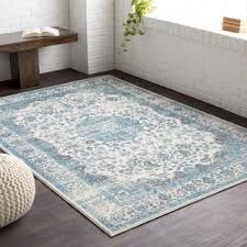 Teal Living Room Rug by Farmhouse Rugs Birch Lane