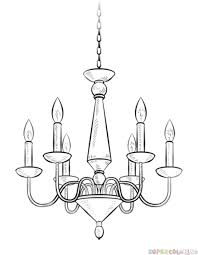 How To Draw A Chandelier Step By