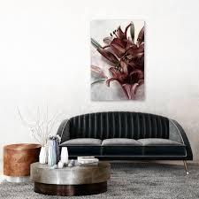 leinwand bilder blumen magnolien rosa retro antik bild