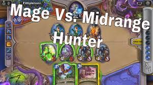 mage vs midrange frozen throne hunter hearthstone youtube
