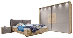 schlafzimmer in grau eichefarben