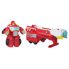 100 Rescue Bots Fire Truck Playskool Heroes Transformers Hook And Ladder Heatwave