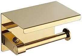 bgl toilettenpapierhalter edelstahl toilettenpapierrollenhalter mit ablage wandmontage für badezimmer gold einzelkopf