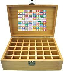 beunyow 35 löcher tragbar bambus aromatherapie geschenk box ätherische öle flaschen box aufbewahrung koffer box geeignet für nagellack duftöle