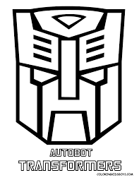 Transformers Logo Optimus Prime Coloring Pages