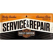 Harley Davidson Service Repair Motorcycles Gift Long Metal Steel Wall Sign