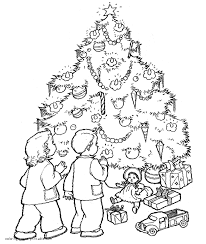 Christmas Tree Coloring Pages Printable by Christmas Tree Colouring Page
