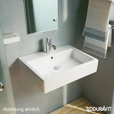 duravit vero washbasin white without tap hole ungrounded with