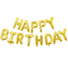 Shop Online Happy Birthday Letter Foil 40 Black White Gold Balloons