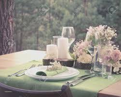 Rustic Wedding Round Table Settings Fresh Setting