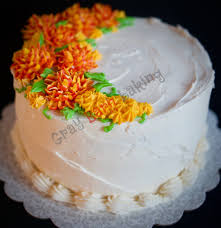 I Used A Special Petal Tip And Variegated Icing To Pipe The Mums On Pieces Of Parchment Paper Then Popped Them Into Freezer Firm Up Before Adding