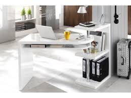 bureau pivotant bureau design blanc laque avec plateau pivotant max