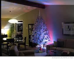 Aluminum Christmas Tree In A Modern Open Space Living And Dining Room