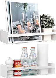 vencipo regal metall für bücherregal kinderzimmer wandregal weiß für organizer küche gewürzregal wand dekoration für badregal metall deko