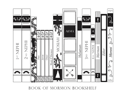 Book Of Mormon Bookshelf Coloring Page B