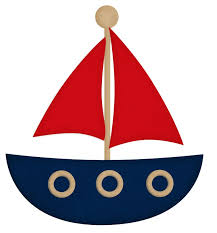 boat clipart red and blue 5