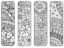 Bookmarks To Print And Color Bookmark Coloring Page Digital Download Nature Flowers Adult Wallpaper Details