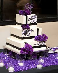 Purple And Black Wedding Cakes Photo