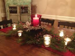 Elegant Kitchen Table Decorating Ideas by Rustic Brown Wooden Dining Table Decoration With Garland And